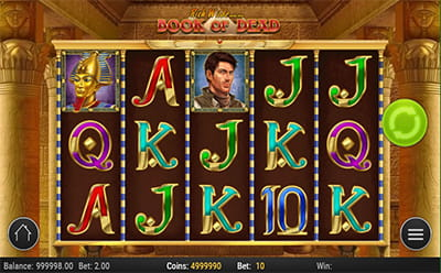 Book of Dead peli Wunderino Casinolla