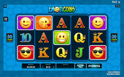 Emoticoins Casinohuoneella